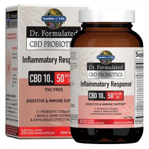 Dr. Formulated CBD Probiotics Inflammatory Response Softgels 10mg 30 Count