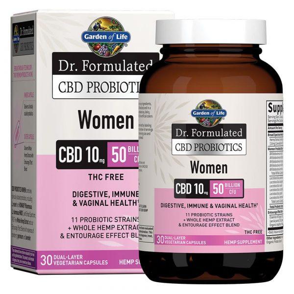 Dr. Formulated CBD Probiotics Softgels for Women 10mg 30 Count