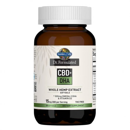 Dr. Formulated CBD+ DHA Softgels 15mg 30 Count