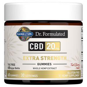 Dr. Formulated Extra Strength CBD Gummies - Tart Cherry 20mg 60 Count
