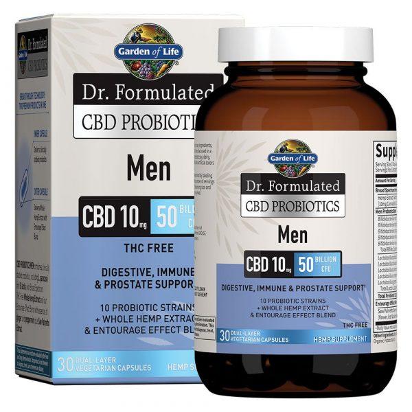 Dr. Formulated CBD Probiotics Softgels for Men 10mg 30 Count