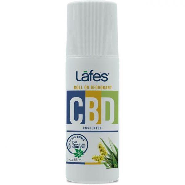 Lafe's Cbd Roll-On Deodorant - Unscented 50 mg 3 oz Liquid