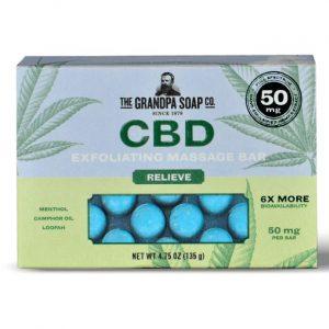 Grandpa Soap Co. Cbd Exfoliating Massage Bar - Relieve 50 mg 4.75 oz Bars