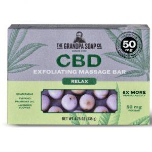 Grandpa Soap Co. Cbd Exfoliating Massage Bar - Relax 50 mg 4.75 oz Bars