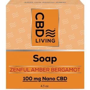 CBD Living Cbd Soap - Zenful Amber Bergamot 100 mg 4.5 oz Bars