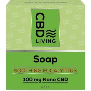 CBD Living Cbd Soap - Soothing Eucalyptus 100 mg 4.5 oz Bars