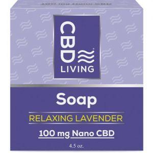 CBD Living Cbd Soap - Relaxing Lavender 100 mg 4.5 oz Bars