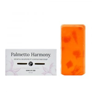 Palmetto Harmony CBD Hemp & Grapefruit Loofah Bar Soap 50mg