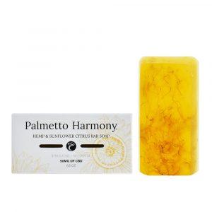 Palmetto Harmony CBD Hemp & Sunflower Citrus Bar Soap 50mg