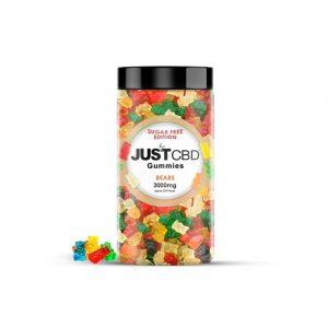 Just CBD Sugar Free Gummy Bears 3000mg