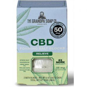 Grandpa Soap Co. Cbd Foaming Salt Blocks - Relieve 25 mg 1 Packs