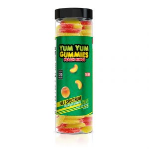 Yum Yum Gummies - CBD Full Spectrum Peach Rings - 250mg