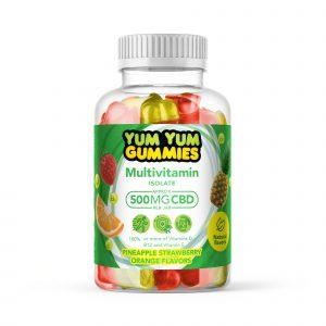 Yum Yum Gummies 500mg - CBD Isolate Multivitamin