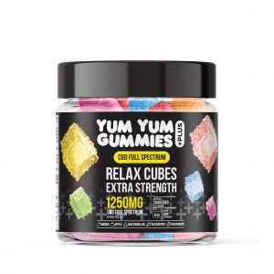 Yum Yum Gummies Full Spectrum CBD Relax Cubes - 1250mg