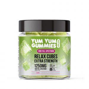 Yum Yum Gummies - Full Spectrum CBD Relax Apple Cubes - 1250mg