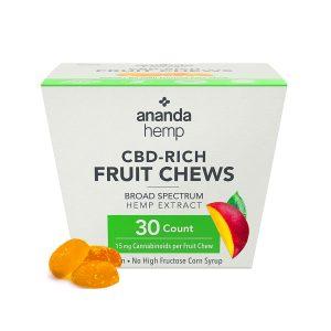 Ananda Hemp CBD Fruit Chews - Mango 15mg 30 Count