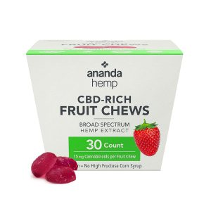Ananda Hemp CBD Fruit Chews - Strawberry 15mg 30 Count