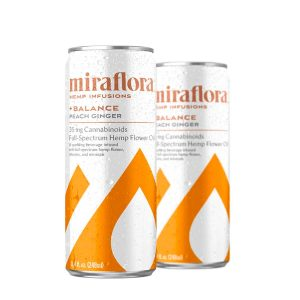 Miraflora CBD Balance Sparkling Water - Peach Ginger 35mg - Single