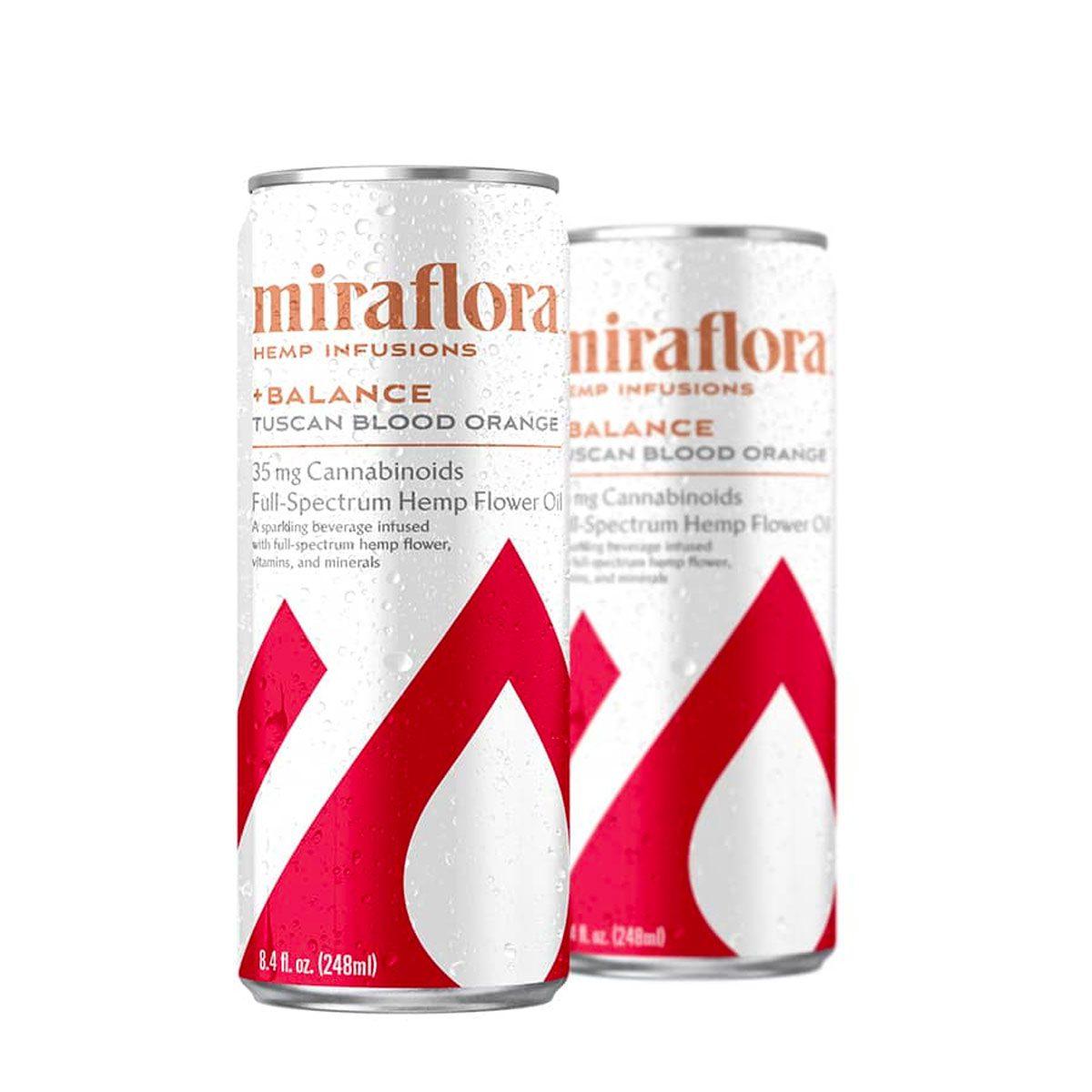 Miraflora CBD Balance Sparkling Water - Tuscan Blood Orange 35mg - Single