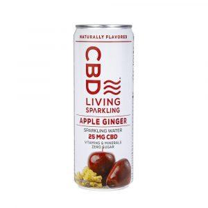 CBD Living Sparkling Water - Apple Ginger 25mg 12oz