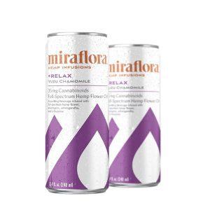 Miraflora CBD Relax Sparkling Water - Yuzu Chamomille 35mg - Single
