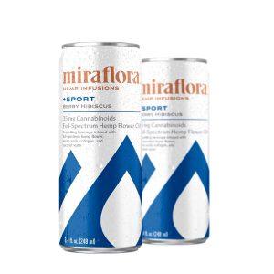 Miraflora CBD Sport Sparkling Water - Berry Hibiscus 35mg - Single