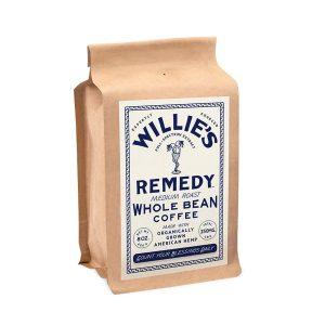 Willies Remedy CBD Coffee Medium Roast Blend - Whole Bean 250mg 8oz